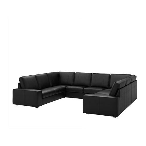 kivik canap en u 6 places grann bomstad noir ikea. Black Bedroom Furniture Sets. Home Design Ideas