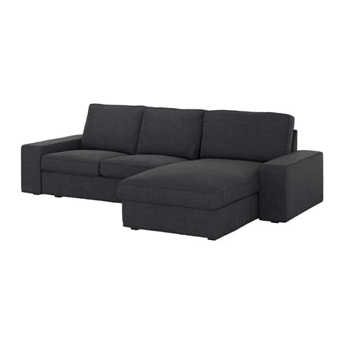 Kivik canap 3 places avec m ridienne hillared anthracite ikea - Canape meridienne ikea ...