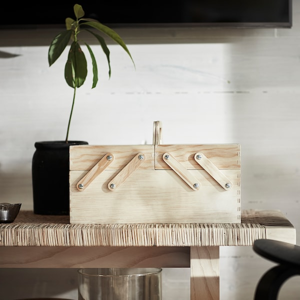 KLÄMMEMACKA Organiseur bureau, naturel contreplaqué, 35x22 cm