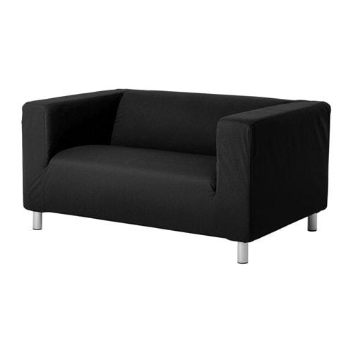 klippan canap 2 places gran n noir ikea. Black Bedroom Furniture Sets. Home Design Ideas