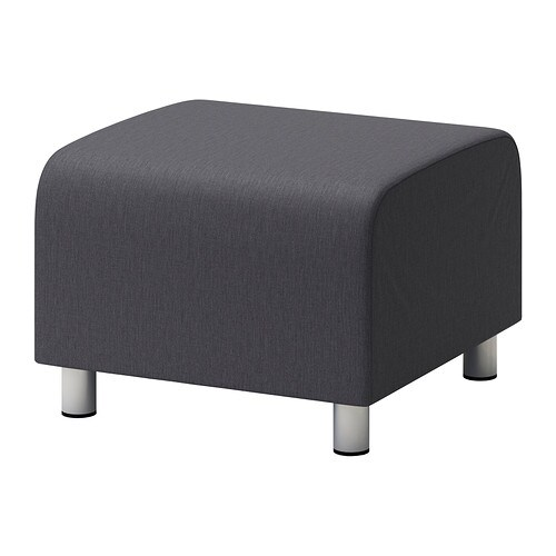 klippan housse pouf vissle gris ikea. Black Bedroom Furniture Sets. Home Design Ideas