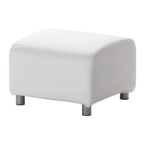 klippan pouf gran n blanc ikea. Black Bedroom Furniture Sets. Home Design Ideas