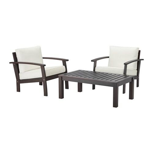 Kl ven kungs ensemble 2 places ext rieur teint brun for Ikea mobilier exterieur