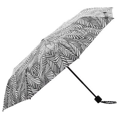 KNALLA Parapluie, pliable blanc/noir