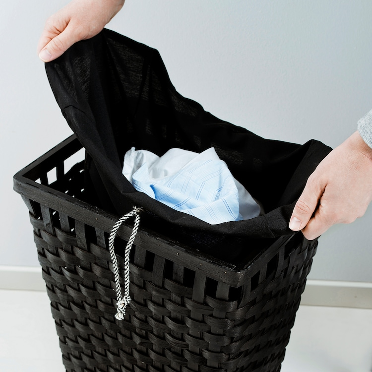 knarra panier à linge intérieur tissu noirbrun  ikea