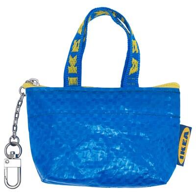KNÖLIG Sac, petit bleu, 9x7 cm