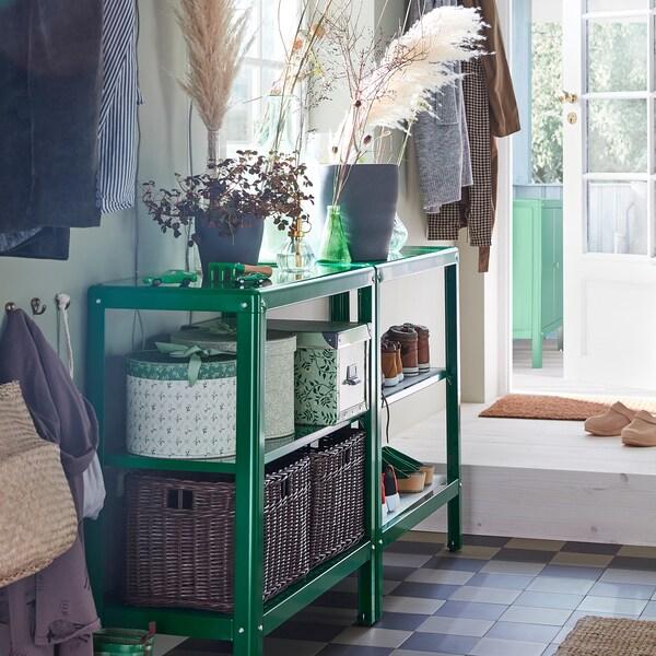 KOLBJÖRN Étagère intérieur/extérieur, vert, 80x81 cm