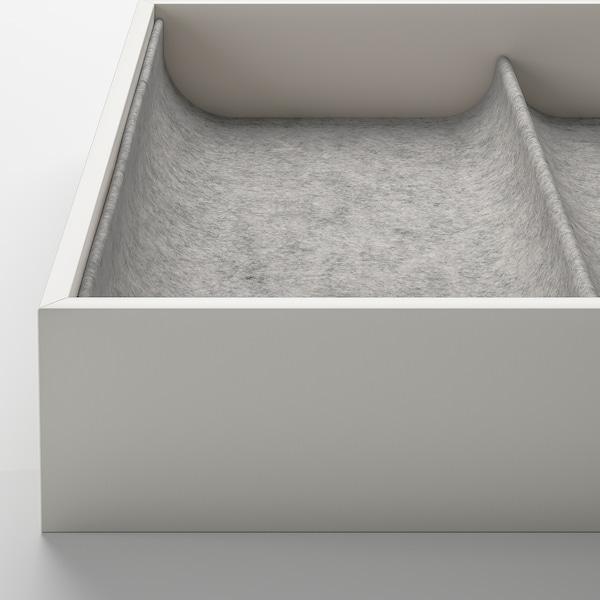 KOMPLEMENT Plateau coulissant av accessoire, effet chêne blanchi, 100x58 cm