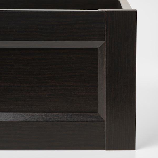 KOMPLEMENT Tiroir avec face encadrée, brun noir, 100x58 cm
