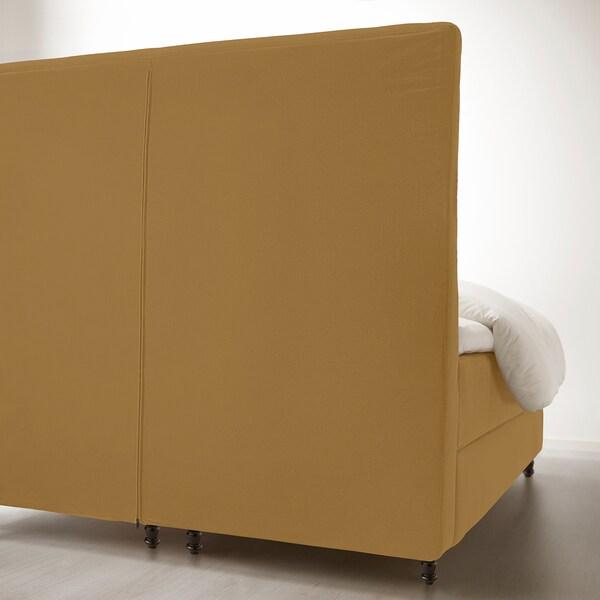 KONGSFJORD Lit/sommier, Hyllestad ferme/Tustna Djuparp jaune-beige, 180x200 cm