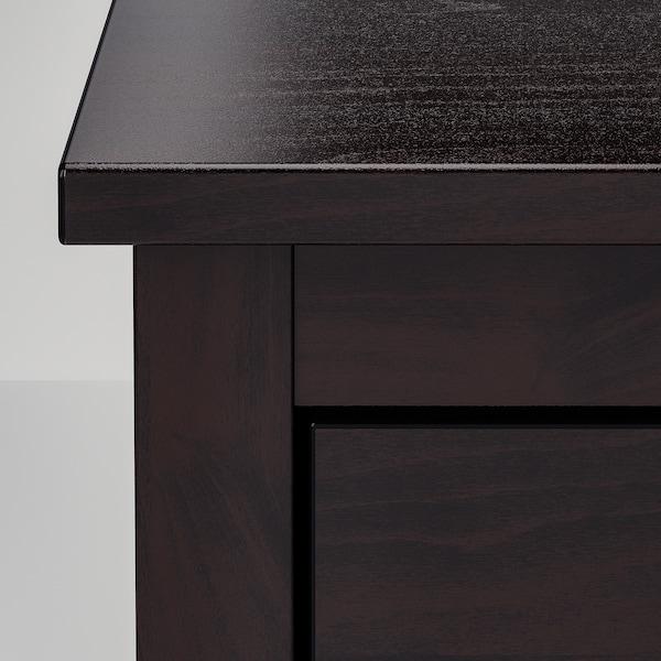 KOPPANG Commode 3 tiroirs, brun noir, 90x83 cm