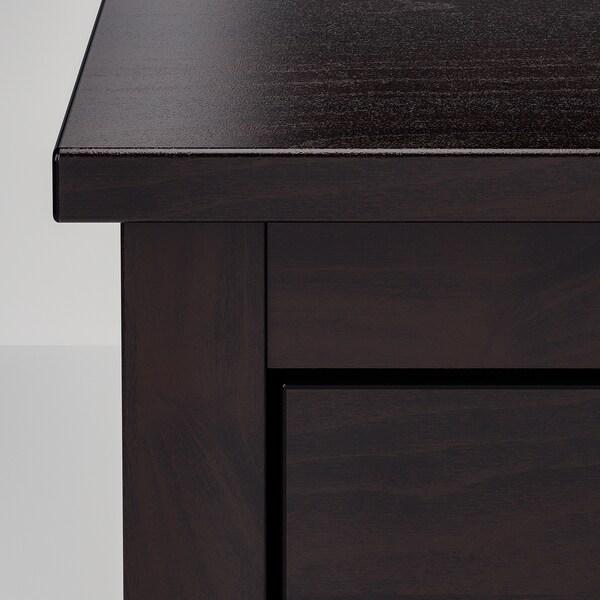 KOPPANG Commode 5 tiroirs, brun noir, 90x114 cm
