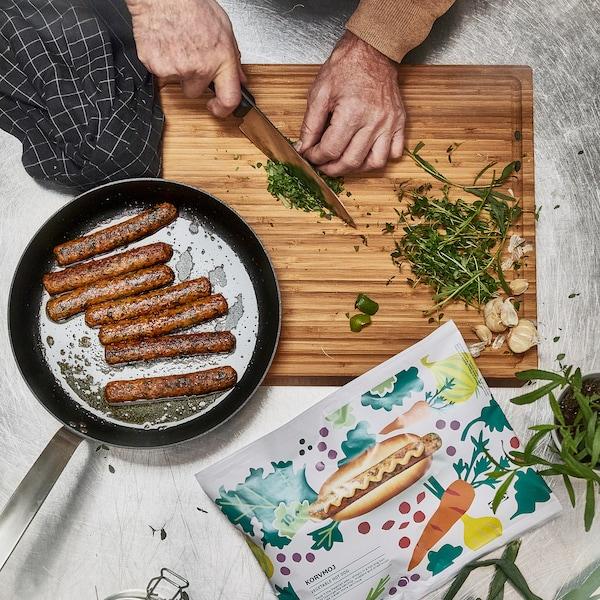 KORVMOJ Hot dog végétarien, surgelé 100% légumes, 460 g