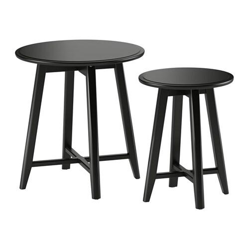 kragsta tables gigognes lot de 2 noir ikea. Black Bedroom Furniture Sets. Home Design Ideas