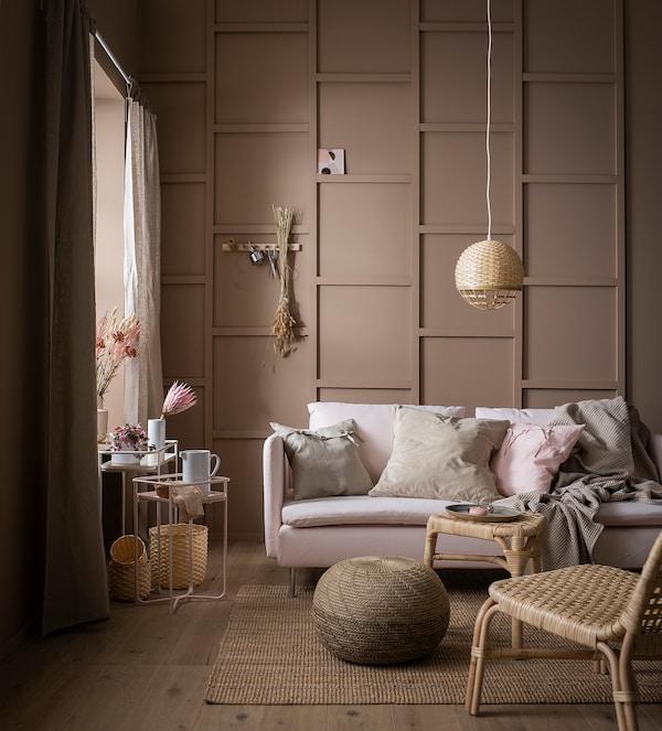 KRYDDPEPPAR Piédestal, intérieur/extérieur rose, 54 cm