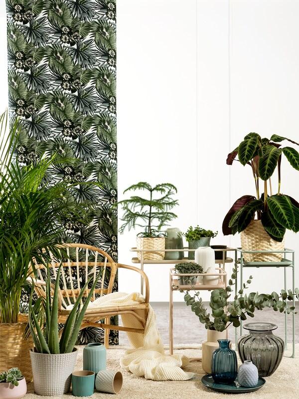 KRYDDPEPPAR Piédestal, intérieur/extérieur vert, 65 cm