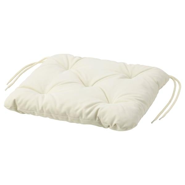KUDDARNA coussin de chaise, extérieur beige 36 cm 32 cm 6 cm