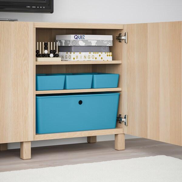 KUGGIS Boîte de rangement avec couvercle - bleu, plastique - IKEA Suisse