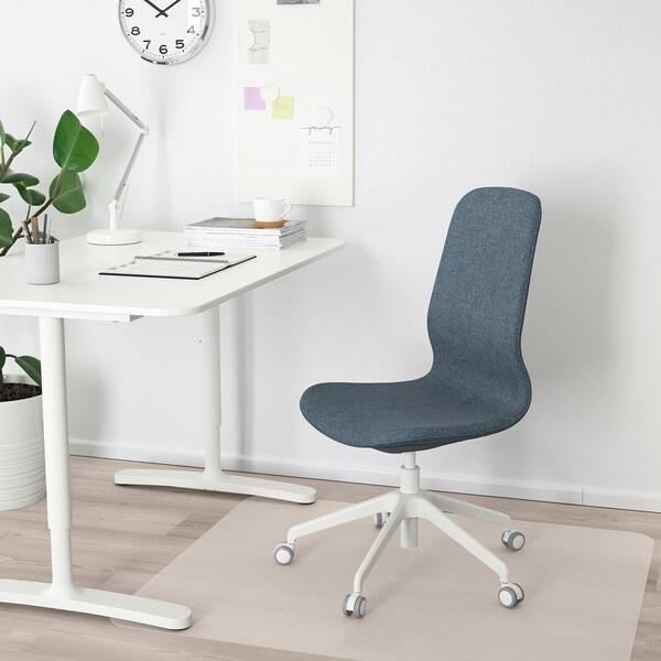 LÅNGFJÄLL Chaise de bureau, Gunnared bleu/blanc