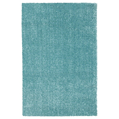LANGSTED Tapis, poils ras, turquoise, 133x195 cm