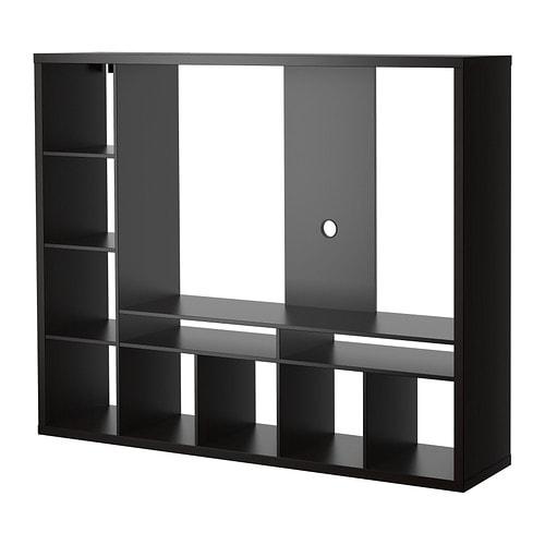 Lappland meuble tv brun noir ikea for Meuble noir ikea