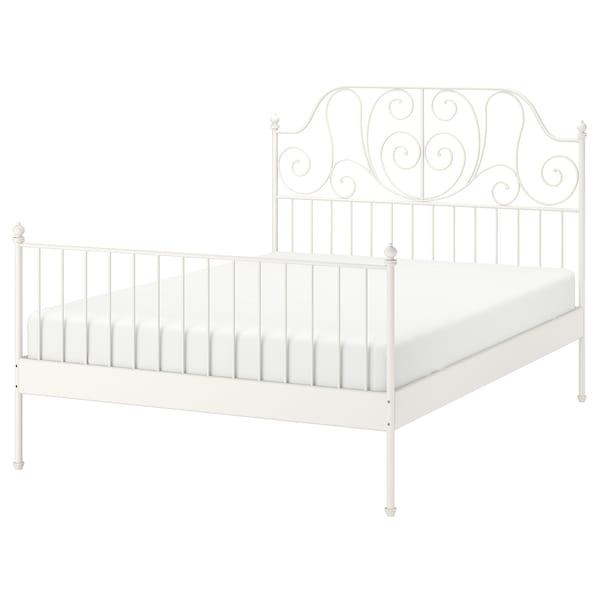LEIRVIK Cadre de lit, blanc/Leirsund, 160x200 cm