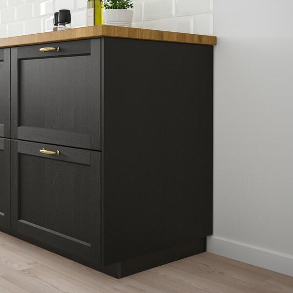 LERHYTTAN Panneau latéral de finition, teinté noir, 39x105 cm