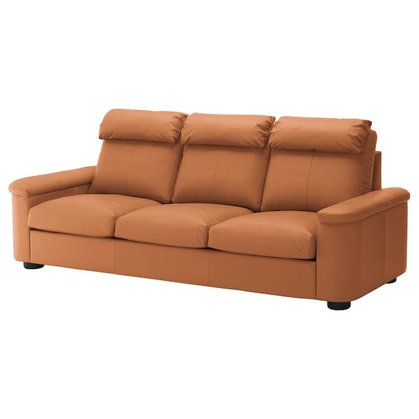 LIDHULT Canapé 3 places, Grann/Bomstad brun doré