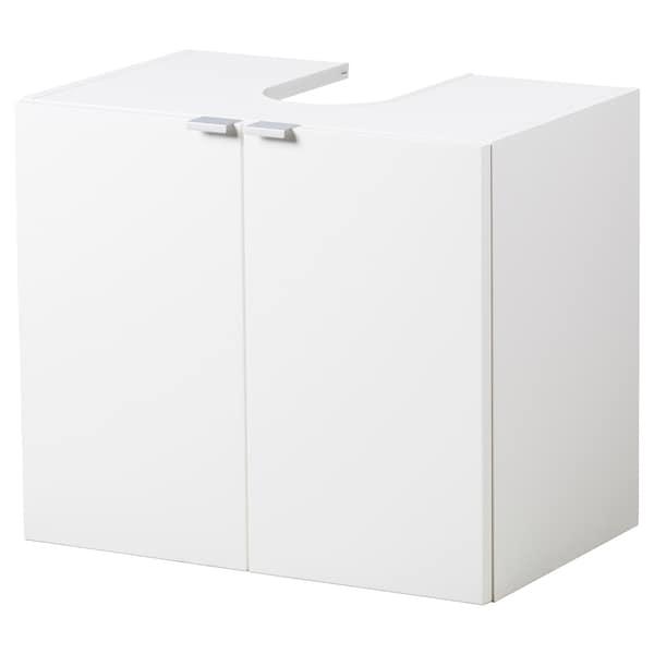 LILLÅNGEN Élément bas lavabo 2 portes, blanc, 60x38x51 cm