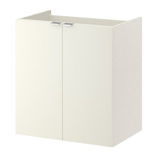 lill ngen l ment lavabo 2 portes blanc 60x38x64 cm. Black Bedroom Furniture Sets. Home Design Ideas