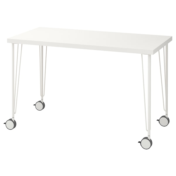 LINNMON / KRILLE Table, blanc, 120x60 cm