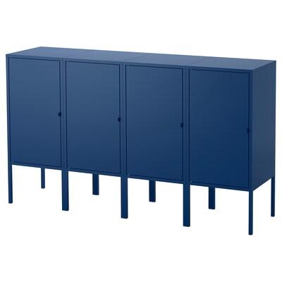 LIXHULT combinaison de rangement bleu foncé 60 cm 82 cm 140 cm 35 cm 82 cm 21 cm 12 kg