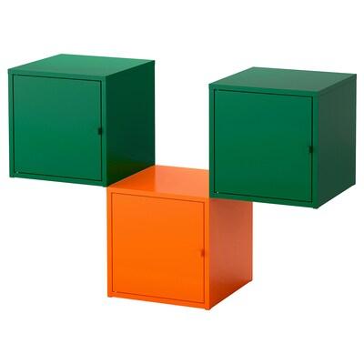 LIXHULT combinaison de rangement orange/vert foncé 105 cm 35 cm 70 cm