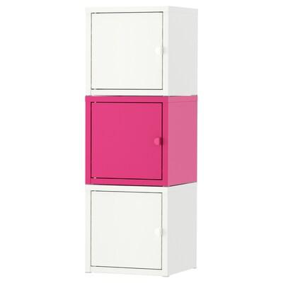 LIXHULT combinaison de rangement blanc/rose 25 cm 25 cm 75 cm