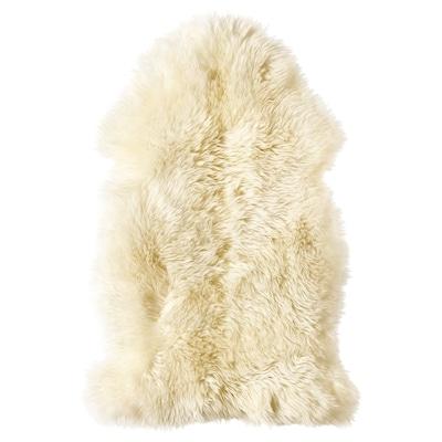 LUDDE peau de mouton blanc cassé 85 cm 55 cm 0.36 m²