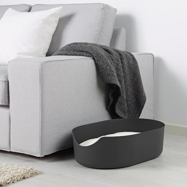 LURVIG Bac à litière, noir, 37x51 cm
