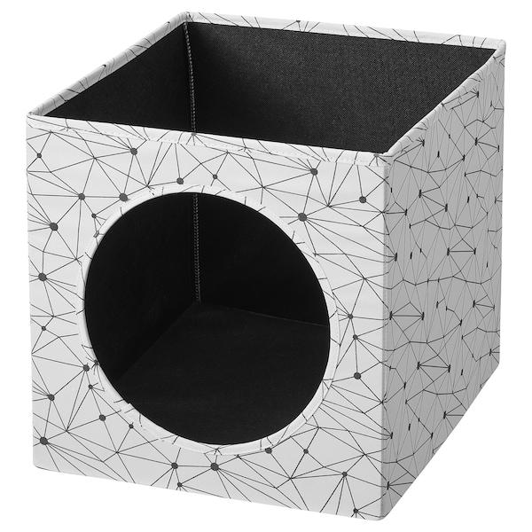 LURVIG Maison pour chat, blanc, 33x38x33 cm