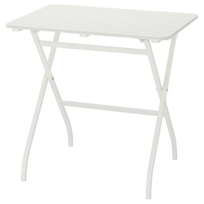 MÄLARÖ table, extérieur pliable blanc 80 cm 62 cm 74 cm