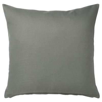 MAJBRÄKEN Housse de coussin, gris vert, 50x50 cm