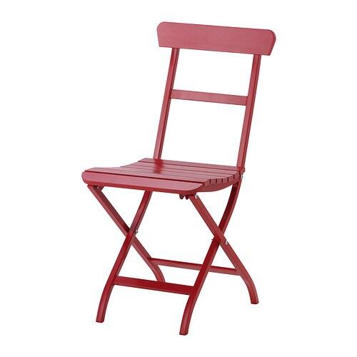 M lar chaise ext rieur pliable rouge ikea - Ikea chaise de jardin ...