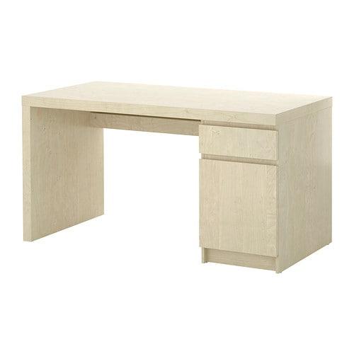 malm bureau plaqu bouleau ikea. Black Bedroom Furniture Sets. Home Design Ideas