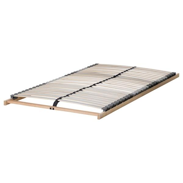 MALM Cadre de lit haut, blanc/Lönset, 90x200 cm