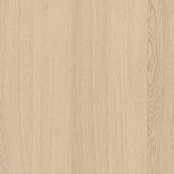 MALM Cadre lit, haut+4rgt, plaqué chêne blanchi/Leirsund, 180x200 cm