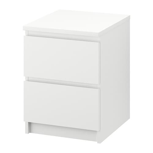 malm commode 2 tiroirs blanc ikea. Black Bedroom Furniture Sets. Home Design Ideas