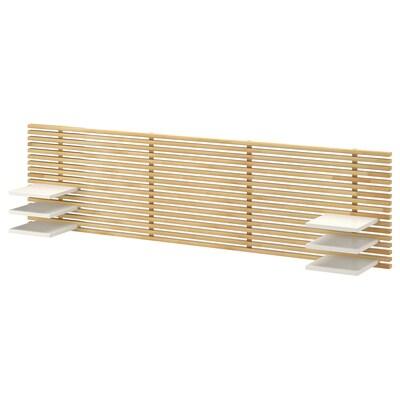 MANDAL Tête de lit, bouleau/blanc, 240 cm