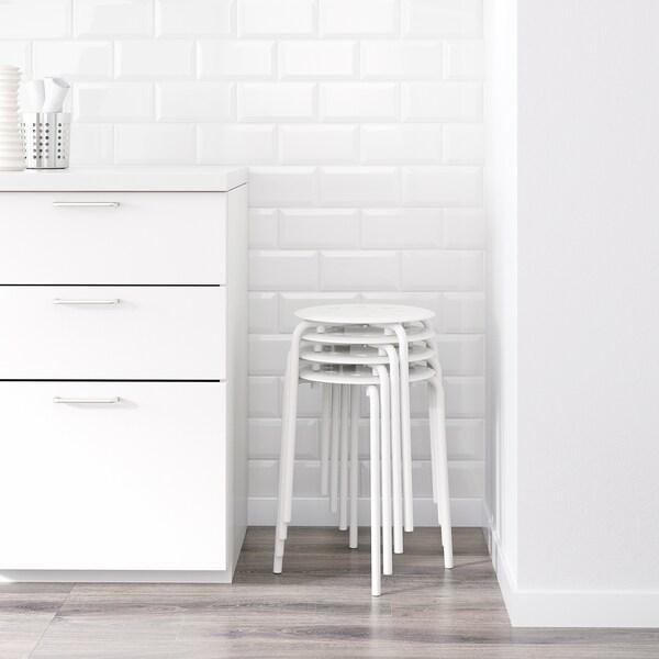 MARIUS tabouret blanc 100 kg 32 cm 40 cm 45 cm