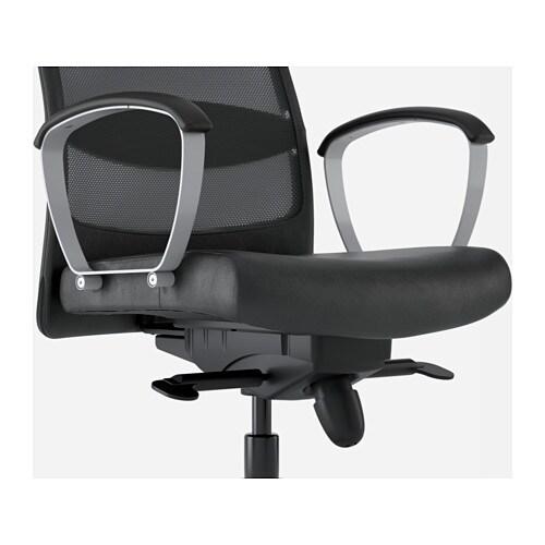 Glose De Chaise Markus Bureau Noir Ikea Strdcqxh