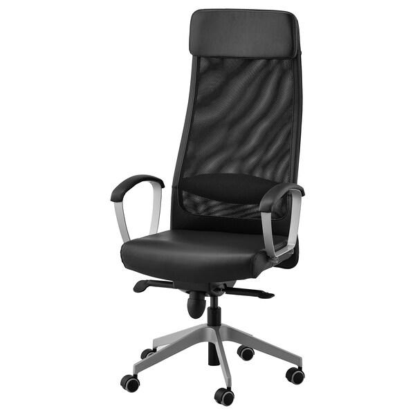 Chaise De Bureau Markus Noir Glose Robust Noir