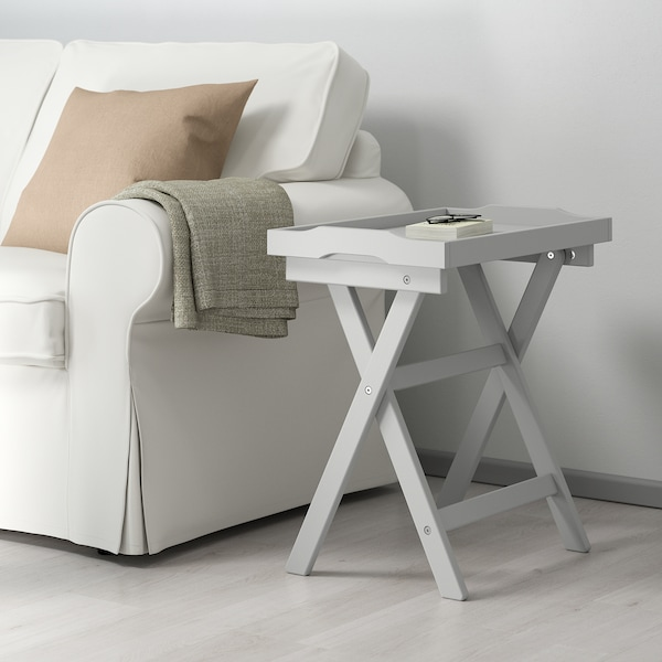 MARYD Table/plateau, gris, 58x38x58 cm