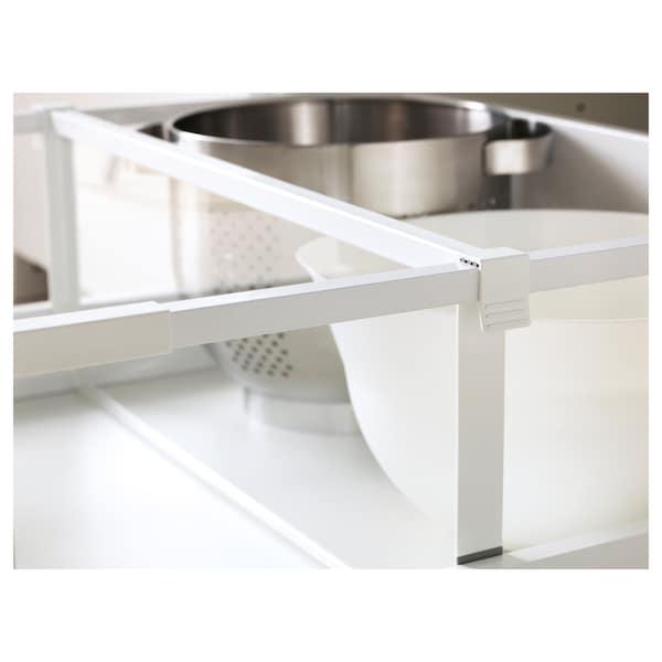 MAXIMERA Séparateur pour tiroir haut, blanc/transparent, 60 cm